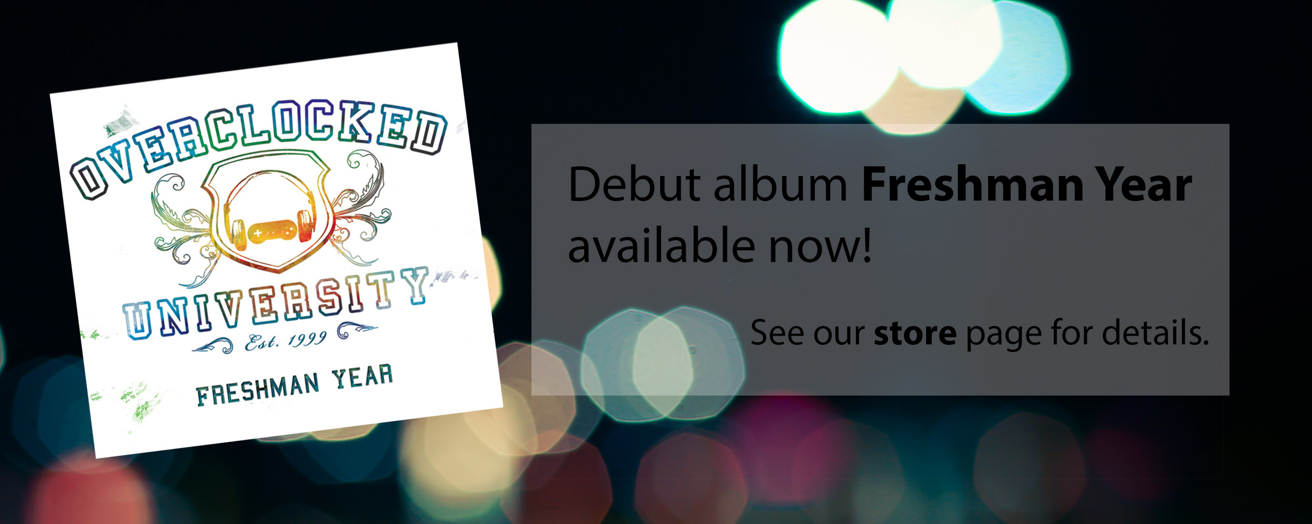 Debut album Freshman Year available now!